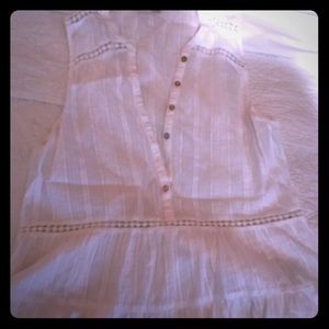 Abercrombie & Fitch Lace No Sleeve Blouse (S)